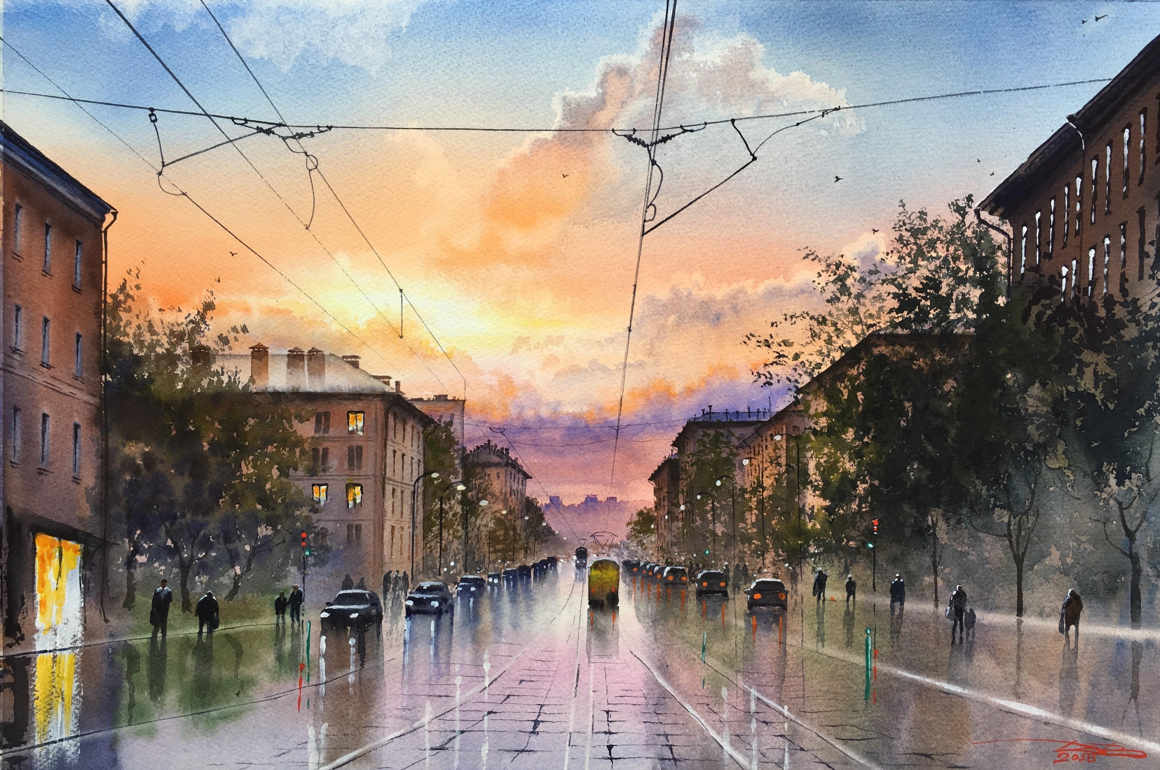 Moscow evening. Кржижановского ул.
