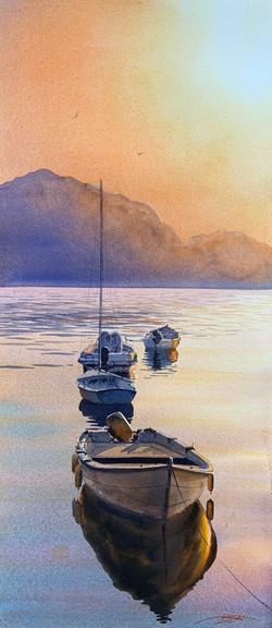 Лодки спят