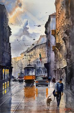 After the rain. Milano. Italy