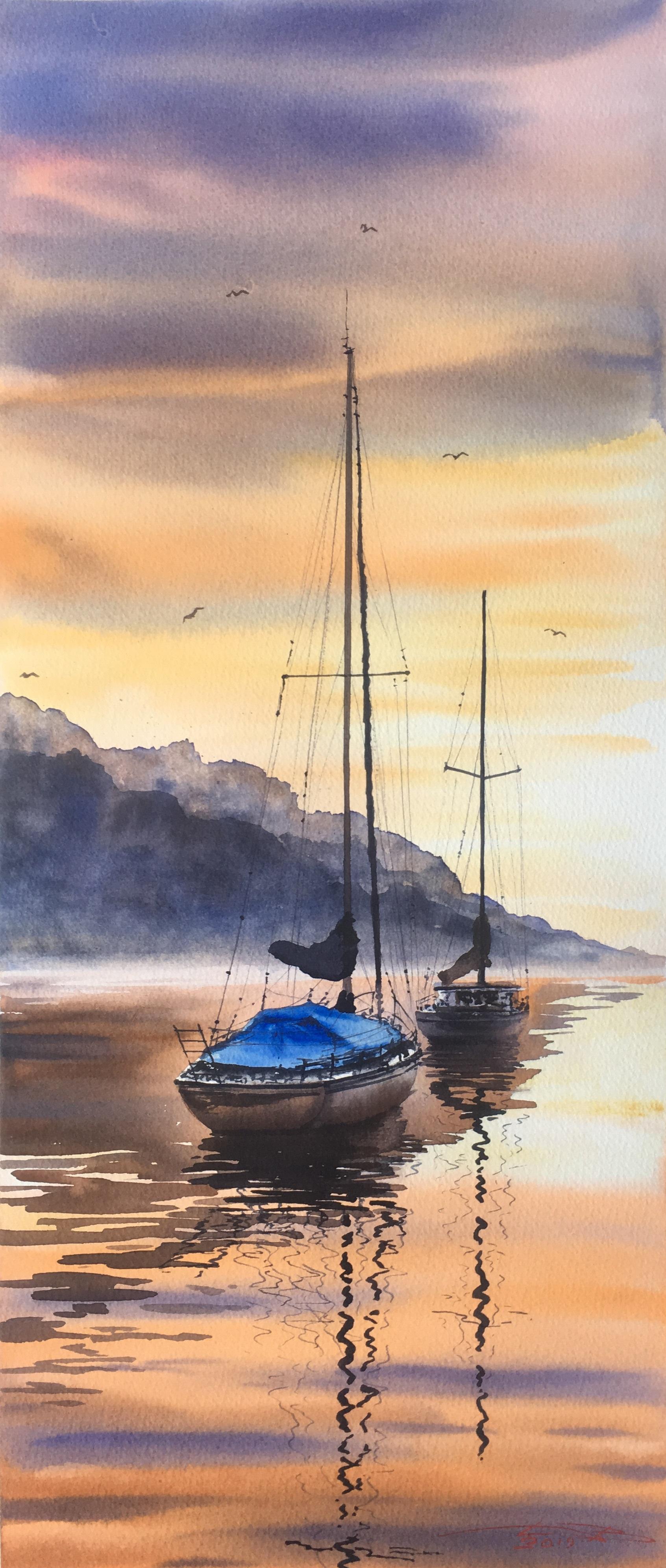 Yachts on the Como lake
