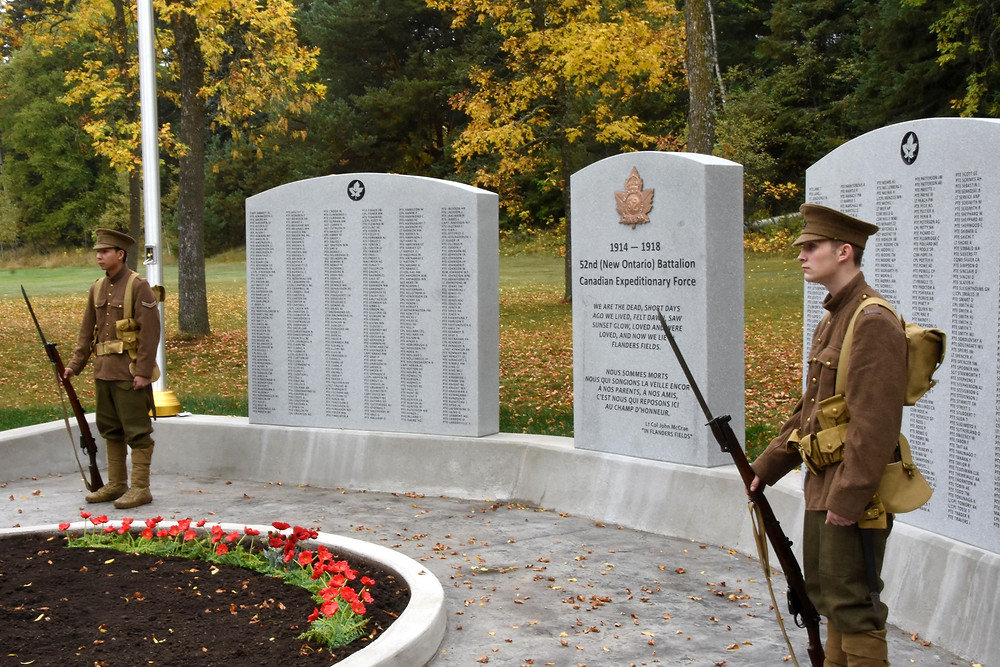 Soldiers of the LSSR dressed in First World War uniforms were posted at the Monument at the beginning of the ceremony.