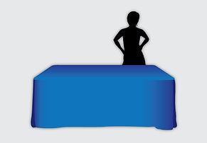 Custom printed tablecloth illustraton.