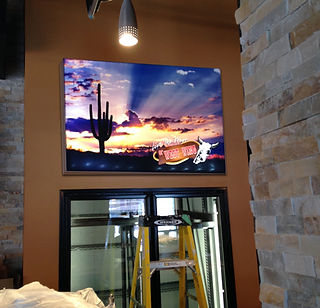 Custom back lit frames for the Construction industry.