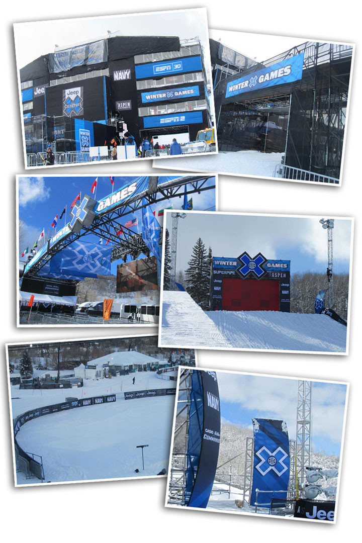 Pictures of Flags Unlimited's involvement of the 2012 Winter X Games.