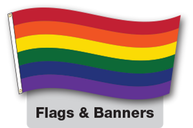 Pride flag by Flags Unlimited.