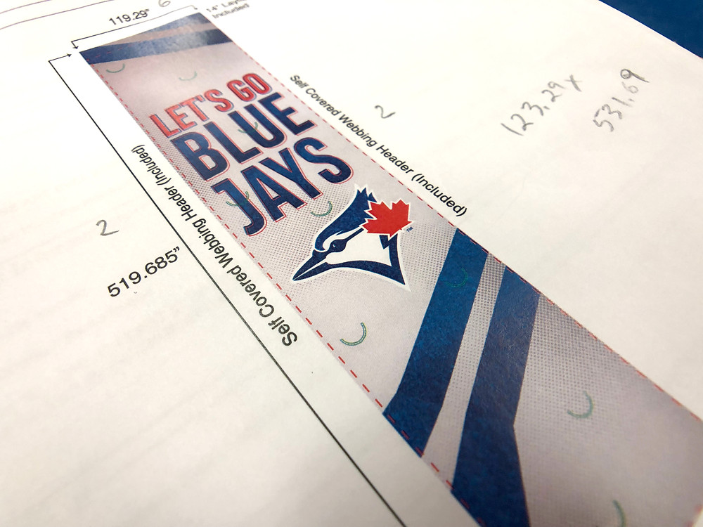 Mock Up of the Blue Jays banners