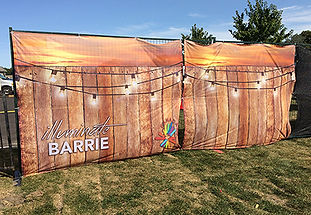 Custom printed fence mesh for Illuminate Barrie.