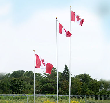 A range of flagpole sizes offered from Flags Unlimited.