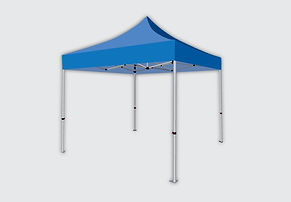 Illustration of a custom printed tent.