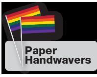 Pride flag handwaving flags.