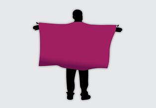 Custom printed cape flag.