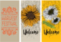 Miscellaneous Fall street banner designs.