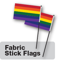 Pride desk flags by Flags Unlimited.
