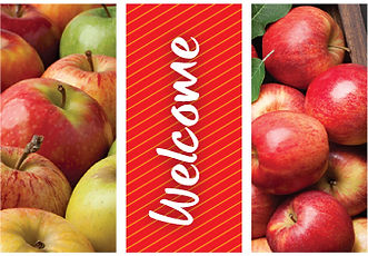 Apple Harvest street banner designs.