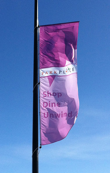 Windtracker. Custom printed banner for Park Place.