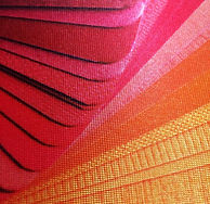 Close up view of Satin fabric.