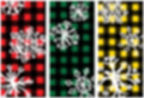 Plaid Snowflakes street banner designs
