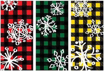 Plaid Snowflakes street banner designs