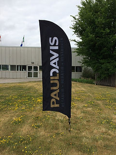 Custom printed feather flags.