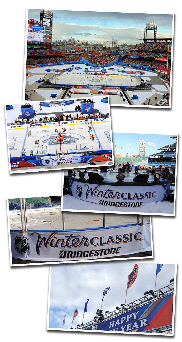 Pictures of the 2012 Winter Classic field.