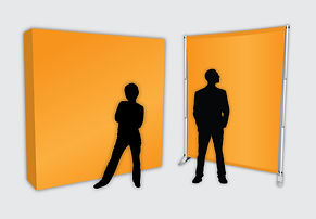 Illutration of custom printed backdrops from Flags Unlimited.