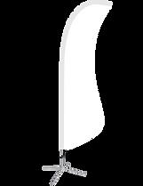 Sail shape custom flag.