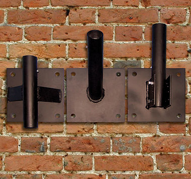 Heavy duty flagpole wall brackets from Flags Unlimited.