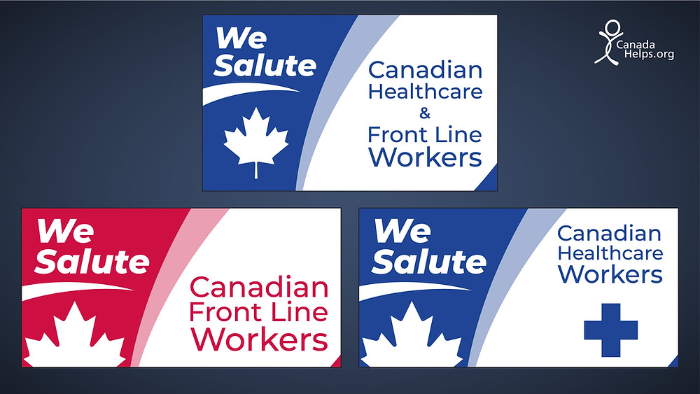 Three flag options by Flags Unlimited to Salute Healthcare and Frontline Workers