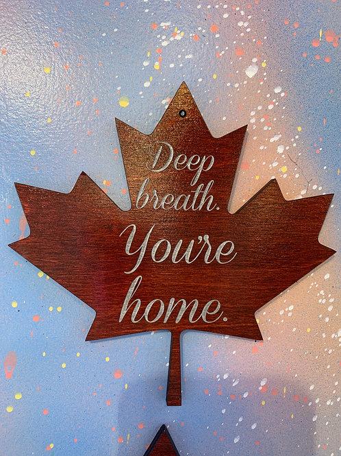 """Deep breathe your home."" home decor"