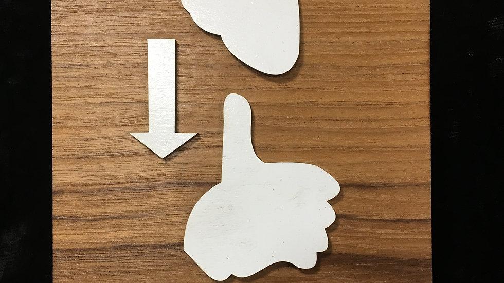 3D Shit Happens sign language wooden birch unique sign house decor.