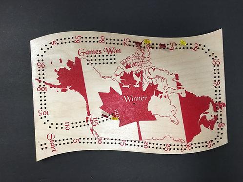 Canada Crib Board / cribbage board