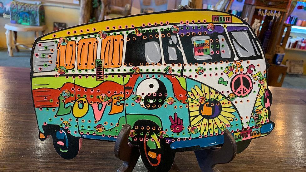 Hippy van Crib board/Cribbage Board