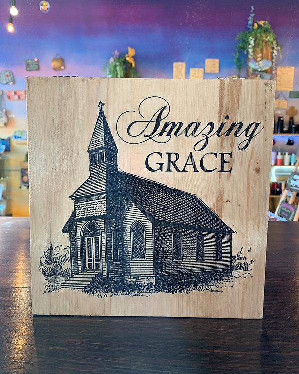Amazing grace themed memory box, urn, keepsake box