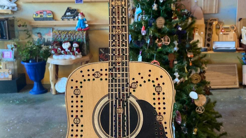 Acoustic guitar Crib board/Cribbage Board