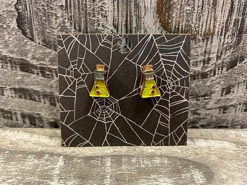Potion bottles wooden stud earrings 6 styles!