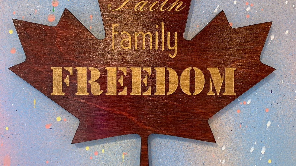 """Faith, family, freedom."" home decor"