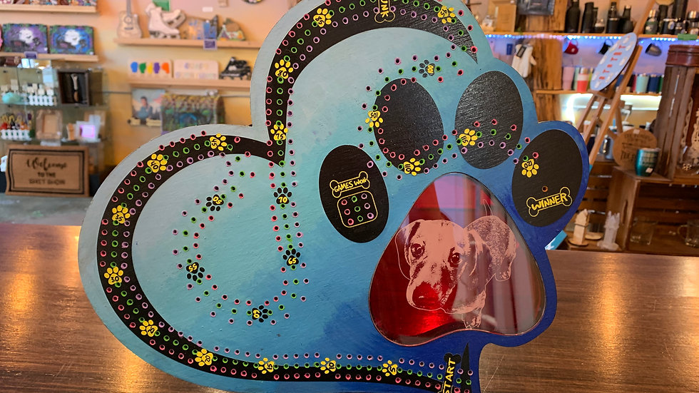 """""""Paw prints on your heart"""" Crib board/Cribbage Board"""