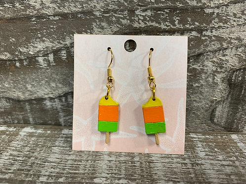 Pastel and neon Popsicle earrings wood dangle/drop earrings 6 different styles!