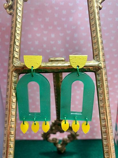Modern & trendy acrylic dangle stud earrings 9 styles!