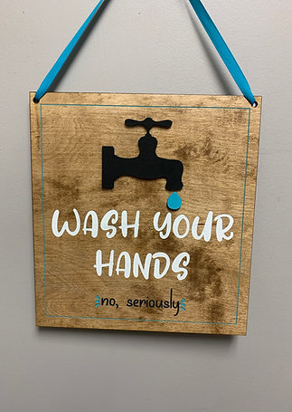 """""""Wash your hands (no seriously) """" rustic farmhouse decor sign"""