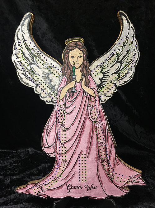 Beautiful Angel, Hand painted, Glittered Crib board with Angel wing pegs
