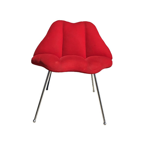 1970s Vintage Marilyn Monroe Red Kiss Chair