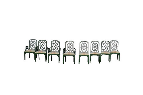 Hollywood Regency Chinoiserie Pagoda Dining Chairs - 8
