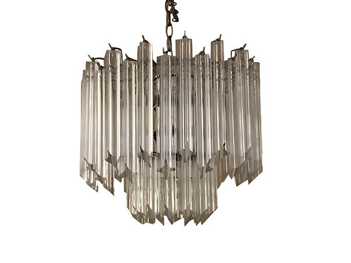 1960s Vintage Lucite Two-Tier Chandelier
