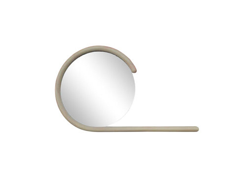 1980s Vintage Jay Spectre Postmodern Wall Mirror With Console Shelf