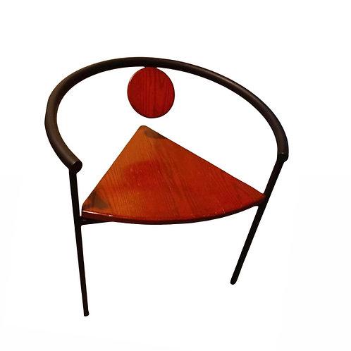 Postmodern Tripod Chair, Manner of Michele De Lucci