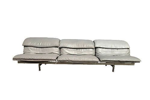 1980s Vintage Giovanni Offredi for Saporiti 'Wave' Three-Seat Sofa