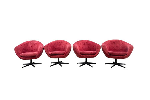 Swivel Tub Chairs in the Style of Shelby Williams - Set of 4