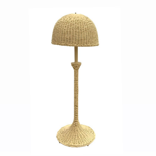 Mid-Century Modern Wicker Floor Lamp