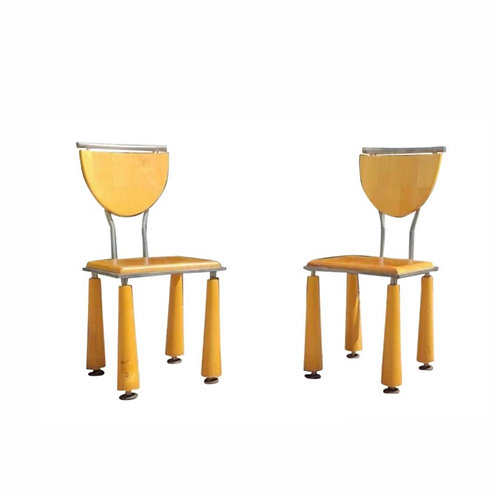 Post Modern Memphis Style Chairs - a Pair